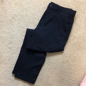 Uniqlo Ezy Ankle Length Pants Navy Sz: M